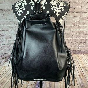 NEW Victorias Secret Fringe Drawstring Backpack
